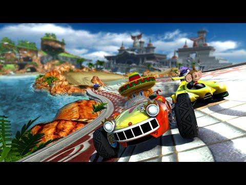 Sonic & Sega all star racing 3 players 2 tracks 1 goal |