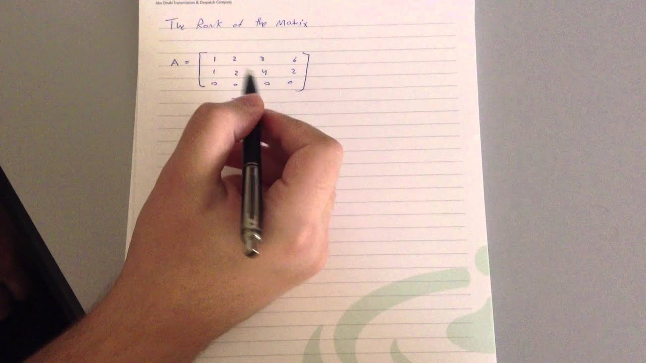 Finding The Rank Of The Matrix Using Determinants