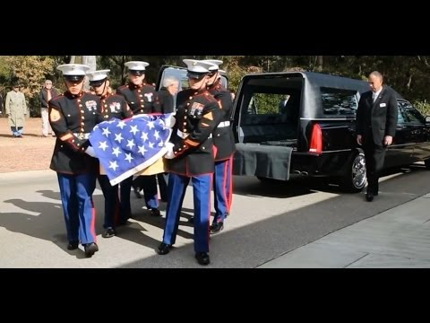 John J. McGinty USMC Medal of Honor Recipient Vietnam Funeral (01/23/2014)
