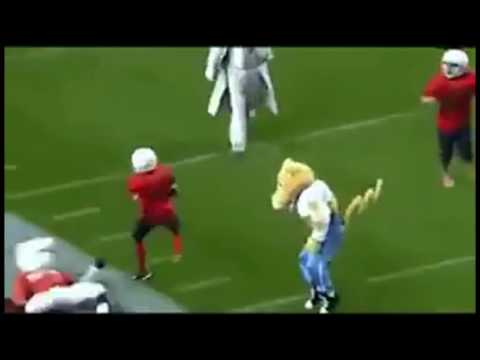 Mascots destroying kids compilation