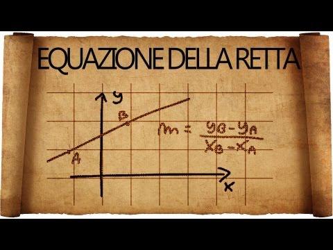Retta : come determinarne l'equazione