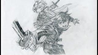 """終わりのセラフ 百夜優一郎 百夜ミカエラ 描いてみた Time Lapse Drawing anime ''Owari no serafu"""" 百夜優一郎 検索動画 33"""