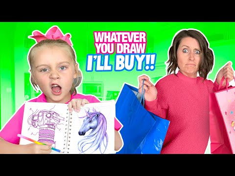 Whatever You Draw I'll BUY Challenge!!! / K-City Family |