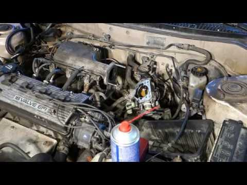 How to clean engine throttle body Toyota Corolla. Years 1991 to 2002