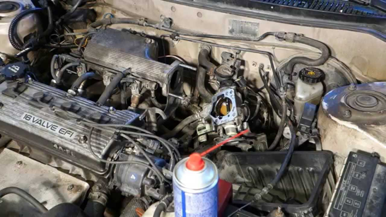 medium resolution of how to clean engine throttle body toyota corolla years 1991 to 2002 youtube
