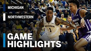 Highlights: Northwestern at Michigan | Big Ten Basketball