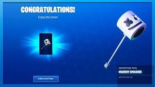 The NEW *FREE* Marshmello Pickaxe In Fortnite!