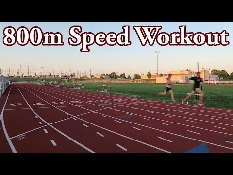 Speed Workout for 800m Race    Distance Runner Vlog