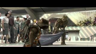 Guardians of the galaxy xander fight scene HD