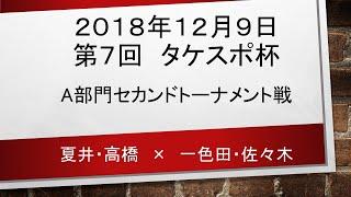 2018年12月9日第7回 タケスポ杯 A部門セカンドトーナメント戦 thumbnail
