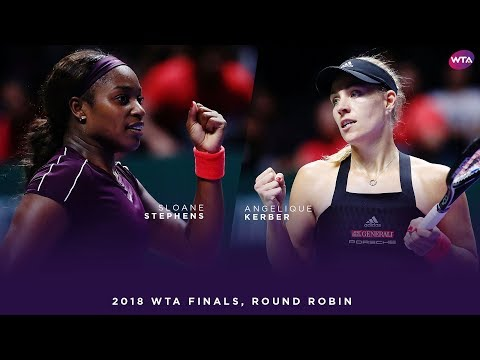 Angelique Kerber vs Sloane Stephens | 2018 WTA Finals Singapore Round Robin | WTA Highlights