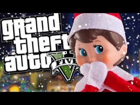 THE ELF ON THE SHELF MOD (GTA 5 PC Mods Gameplay)