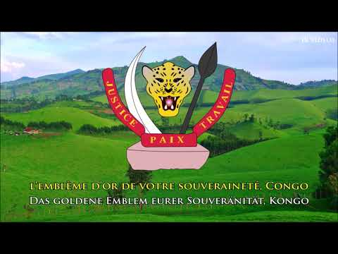 Nationalhymne der Demokratischen Republik Kongo (FR/DE Text) - Anthem of Congo (German)