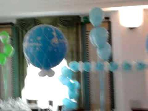 L 39 ideadecorazioni decorazioni con palloncini battesimo - Decorazioni battesimo bimbo ...