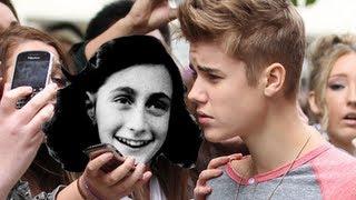 """#BreakingItaly - Justin Bieber: """"Anna Frank avrebbe potuto essere una mia fan"""""""