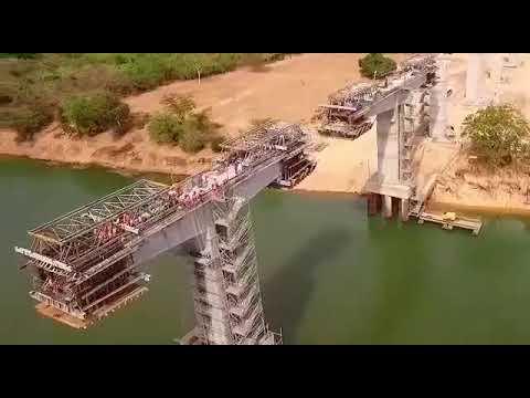 A maior ponte ferroviária da América Latina já está concluída e fica na Bahia