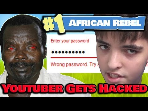 African Rebel Kony HACKS Youtuber On Fortnite & Takes His Verified Channel!