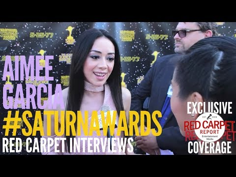 Aimee Garcia #Lucifer interviewed at the 43rd Annual Saturn Awards