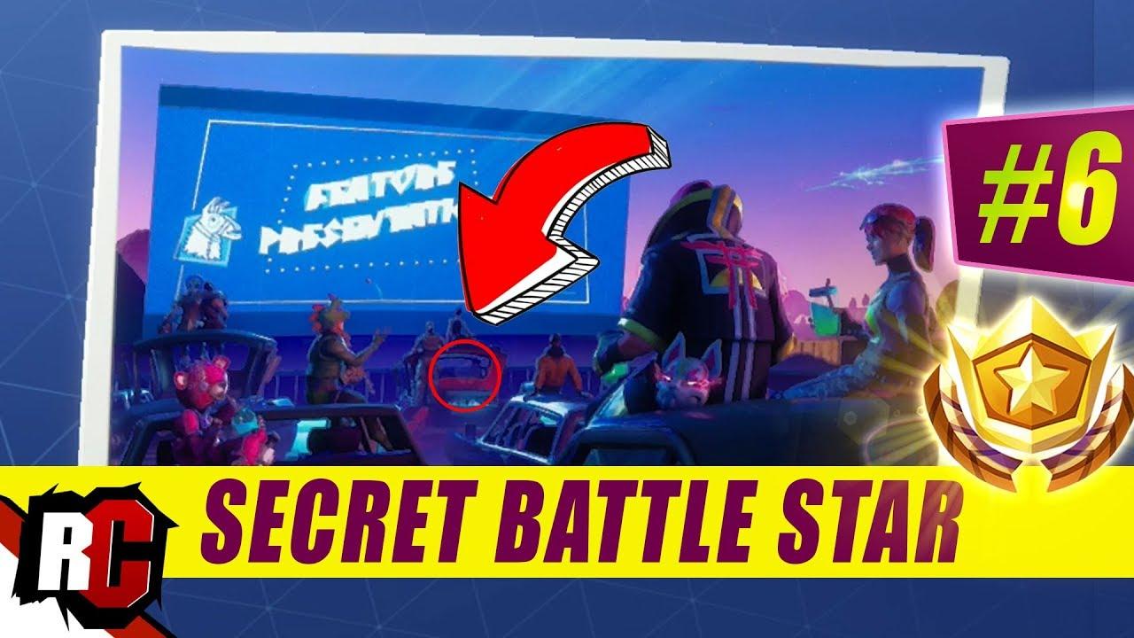 Secret Battle Star Location Week 6 Season 5 Fortnite Road Trip