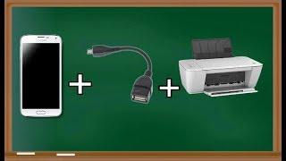 Como imprimir usando o celular via cabo otg