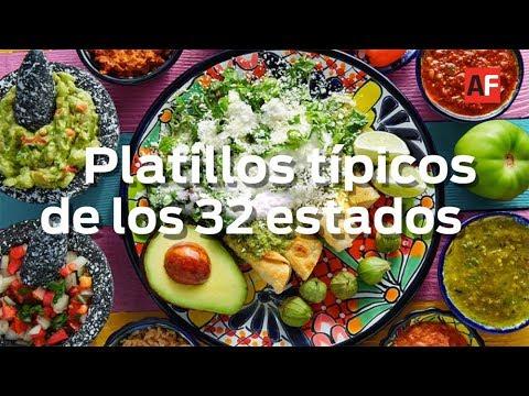 32 Platillos Típicos De Los Estados De México Youtube