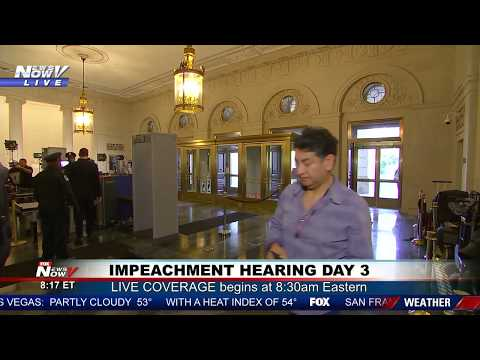 LIVE: President Trump Impeachment Hearing - Day 3
