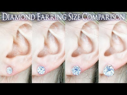 Earring Diamond Size Comparison 1 Carat On The Ear Vs 25 To 4 Ct 33 5 66 75 8 9 2 You