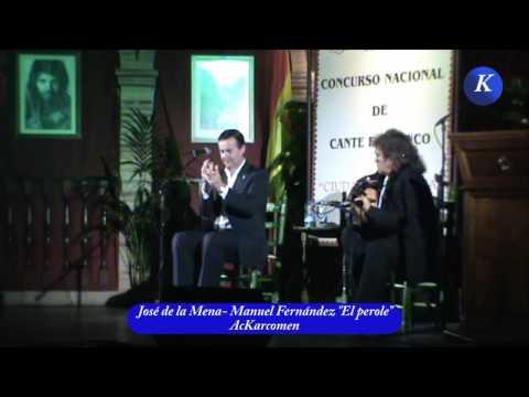 Flamenco: Jose de la Mena primer premio del XXVI Concurso Nacional de Cante Flamenco  Ciudad Carmona