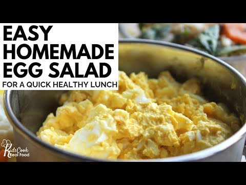 Easy Homemade Egg Salad for a Quick Healthy Lunch