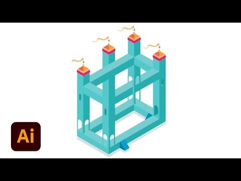 Create Isometric Art: Part 1 (Monument Valley)  | Illustrator Tutorial