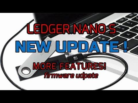 HUGE! NEW LEDGER NANO UPDATE! 🔐