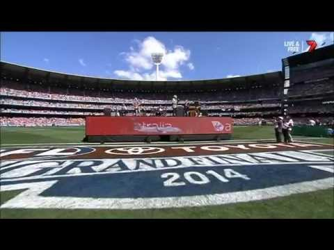 Tom Jones - Medley & Ed Sheeran Duet live at 2014 AFL Grand Final 27 Sept 2014