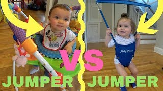 jolly jumper vs baby einstein review and comparison twin edition