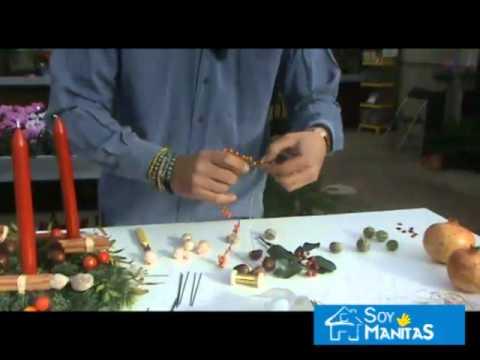 C mo hacer un centro de mesa para navidad youtube - Mesa de navidad ...