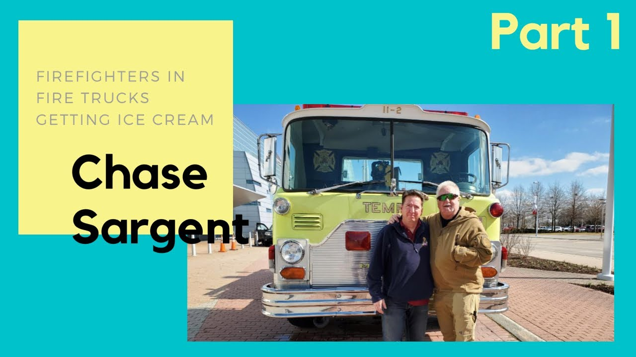 Firefighters in Fire Trucks getting Ice Cream - Chase Sargent Part 1