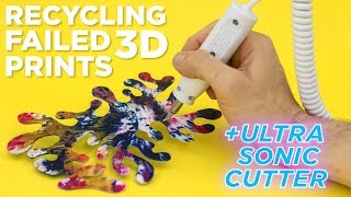 Ultrasonic Knife vs. Recycled 3D Prints