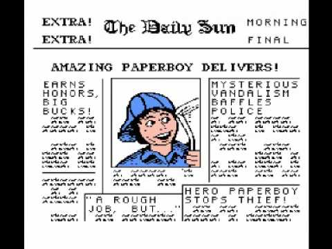 Paperboy (NES) Music - Game Theme