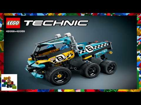 LEGO Instructions  - Technic - 42058 + 42059 - Power Racer