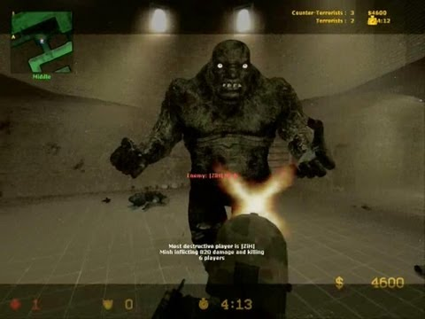 Counter Strike Source Zombie boss fight