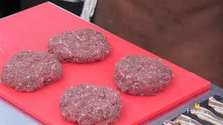 Venison Burger Cooked On The Traeger Timberline 850