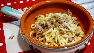431 - Pici porri e salsiccia...la serata si fa alticcia! (primo piatto di carne facile toscano)