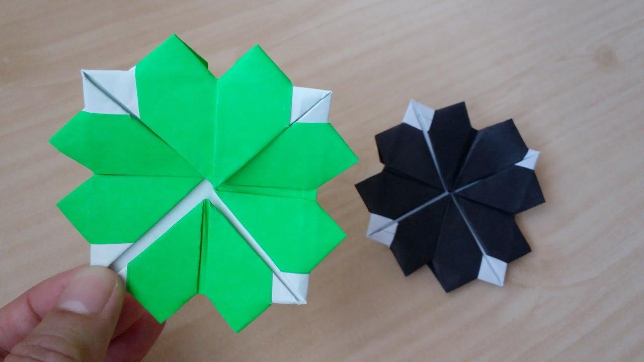Origami Easy Four Leaf Clover - YouTube - photo#12