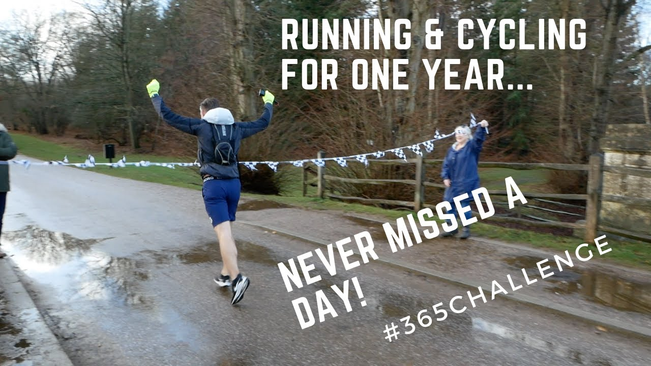 He ran & cycled for one year... Never missed a day #365challenge