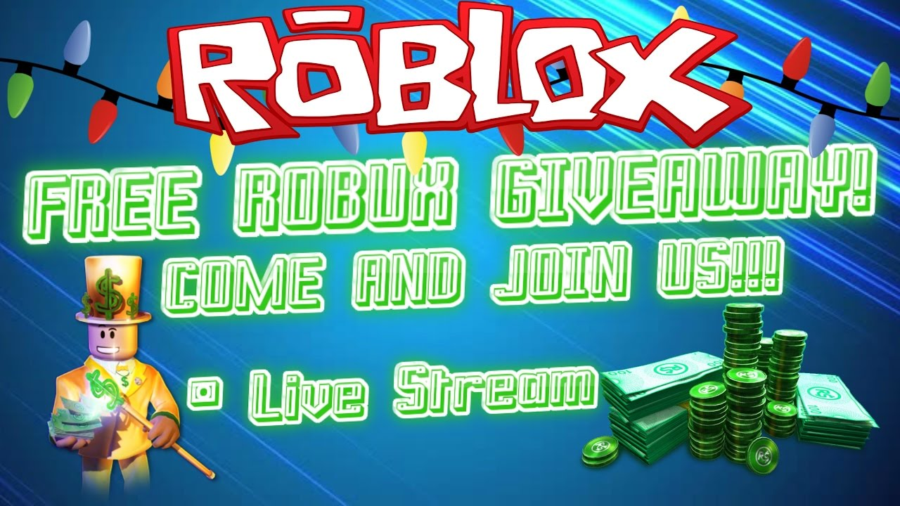 Robux Give Away Live Roblox Live Stream Free Robux Giveaway Come And Join Us Roadto500subs Youtube