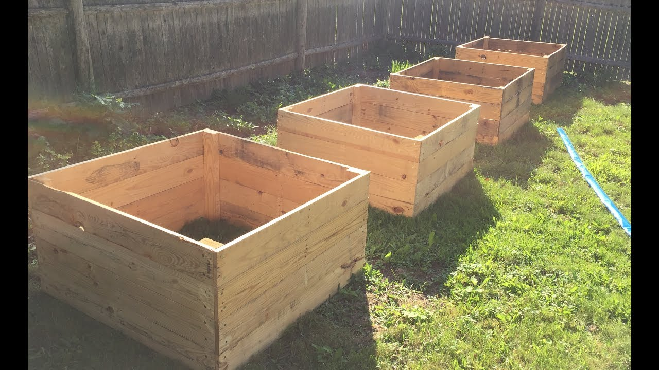 Genial How To Make A Raised Garden Bed With Pallet Wood  DIY Daddy
