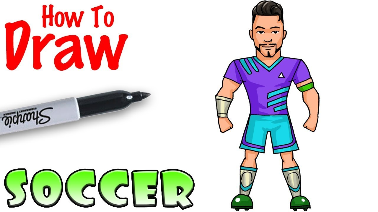 How To Draw Soccer Player Fortnite Youtube
