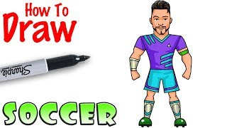 How to Draw Soccer Player | Fortnite