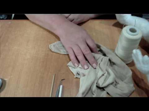 видео: мк по обтяжке  капроновой куклы без швов