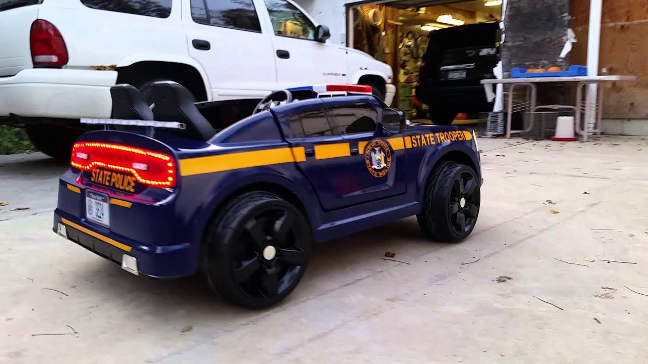 New York State Police Kid Trax Dodge Charger 2  YouTube