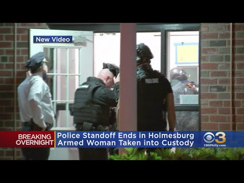 Police Standoff Ends In Holmesburg With Armed Woman Taken Into Custody